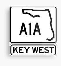 A1A - Key West, The Conch Republic Metal Print