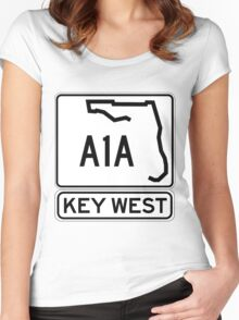 A1A - Key West, The Conch Republic Women's Fitted Scoop T-Shirt