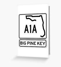 A1A - Big Pine Key Greeting Card