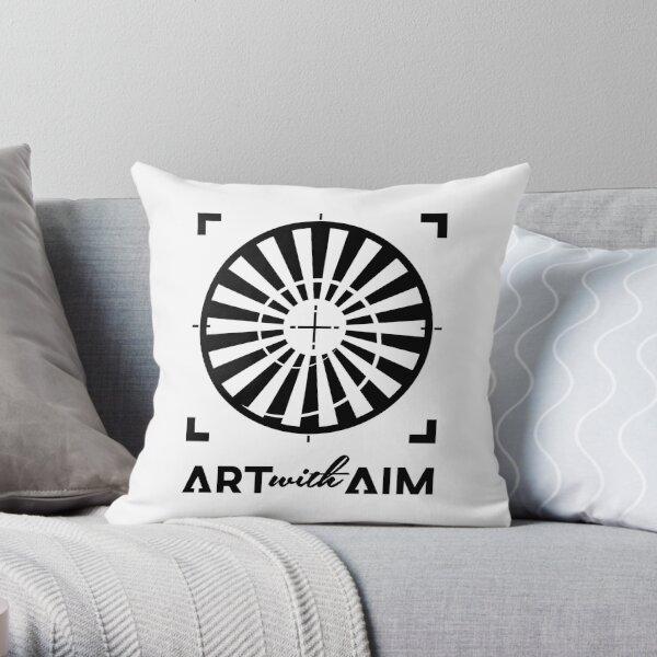 Monochrome black Throw Pillow