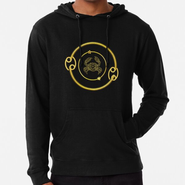 Cancer Zodiac Art Design Lightweight Hoodie