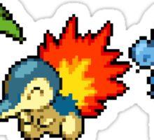 Johto Region Pixel Starters: FIXED! Sticker