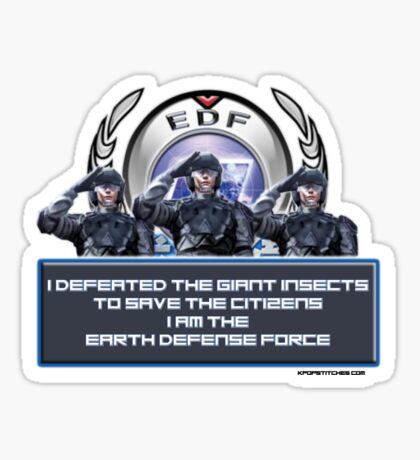 Earth Defense Force I am the Earth Defense Force EDF Sticker