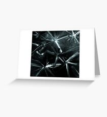 Painted Stars In Black And White Picture Greeting Card