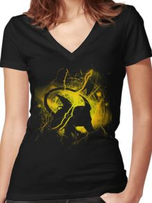 Thunder Rat Women's Fitted V-Neck T-Shirt