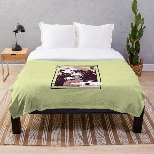 100x150cm Anime Kimetsu no Yaiba Nezuko Flannel Bed Warm Throw Blanket#R1066