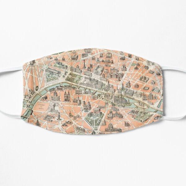 Vintage Paris Map Flat Mask