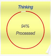 Famous humourous quotes series: Slow Thinking process  Poster