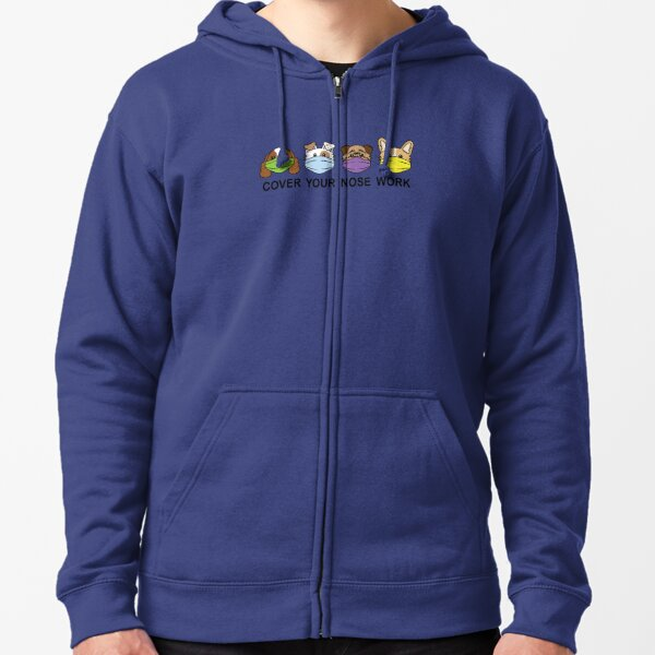Cover Your Nose Work 2A - Clothing Zipped Hoodie