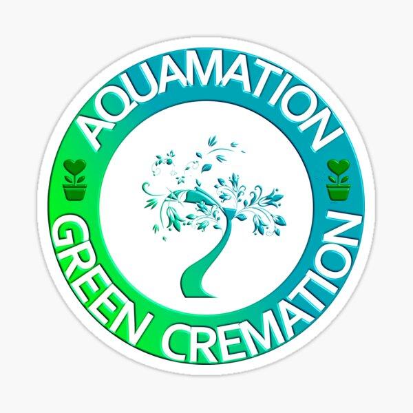 AQUAMATION GREEN CREMATION Sticker