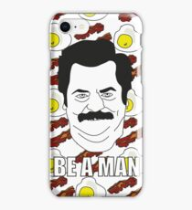 Ron Swanson - Eggs & Bacon iPhone Case/Skin