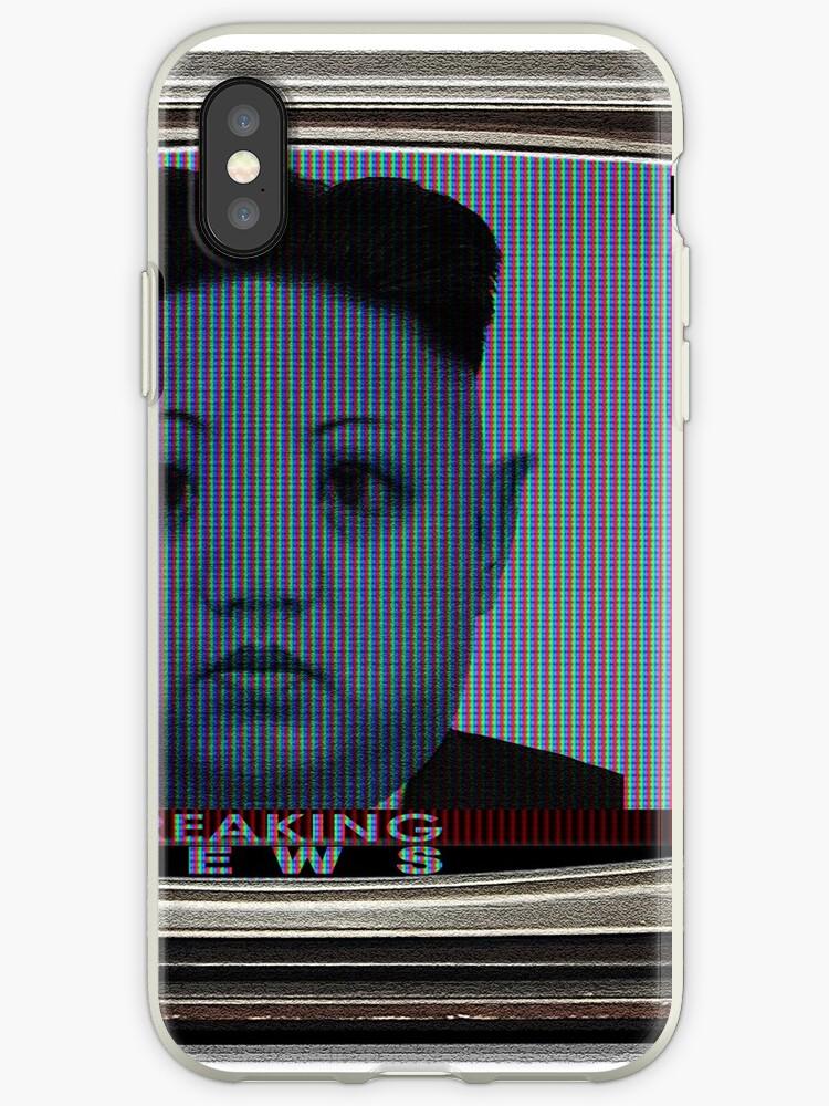 'Kim Jong-Un Old TV Alien Version [Breaking News]' iPhone Case by norton178