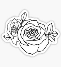 Halsey tattoo - Roses Sticker