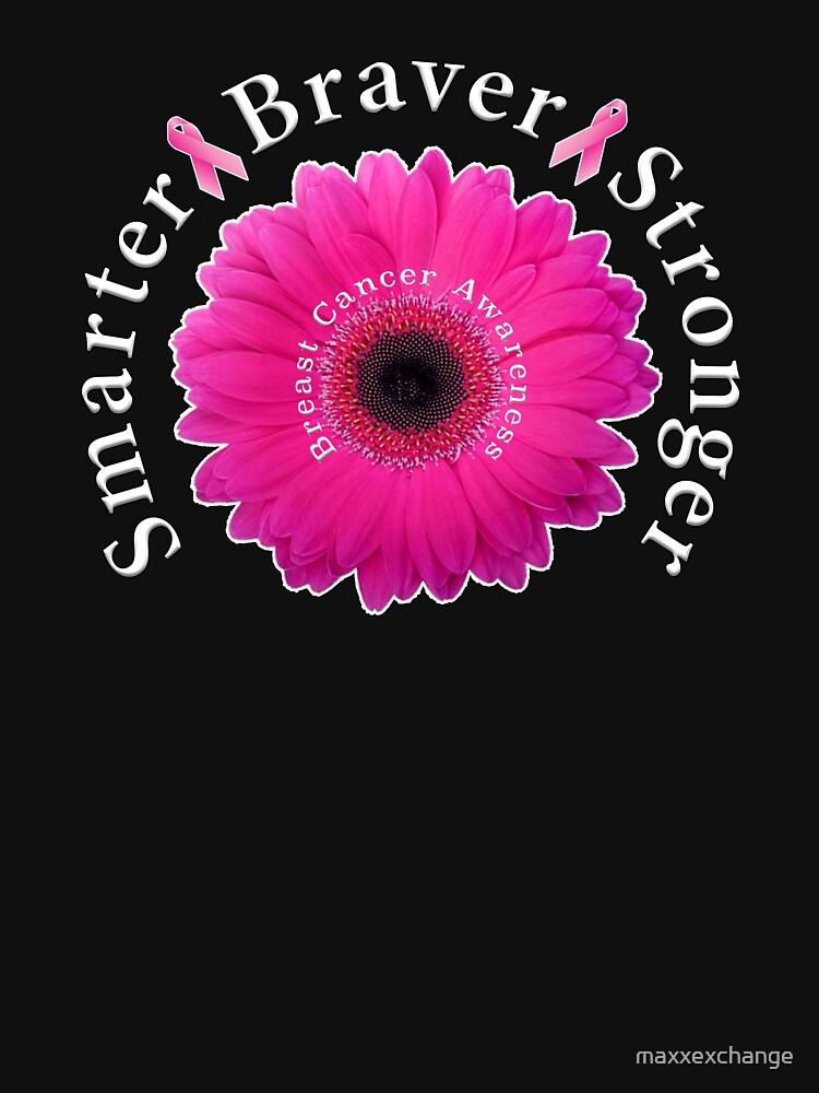 Breast Cancer Awareness Smarter Braver Stronger. by maxxexchange