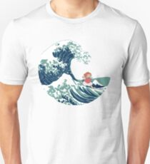 Ponyo and The Great Wave off Kanagawa - Moderne T-Shirt