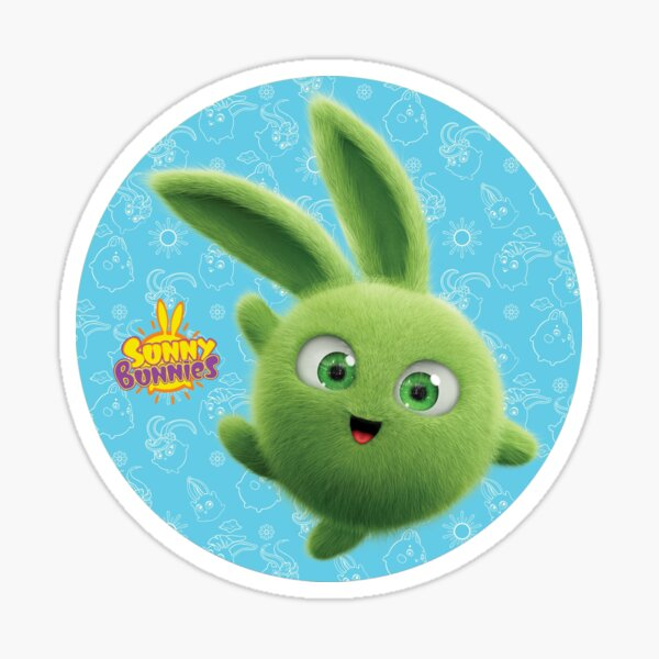 Sunny Bunnies - Hopper (Blue Circle) Sticker
