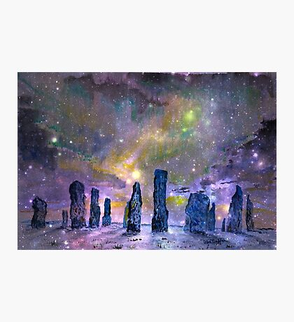Callanish stones winter solstice Photographic Print