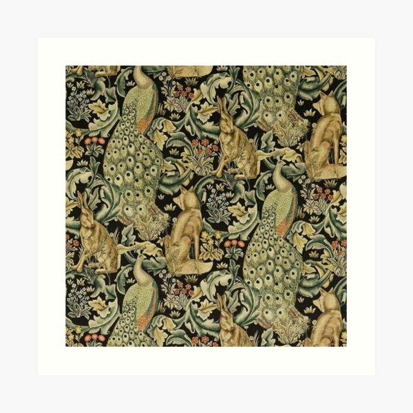 william Morris floral design  Art Print