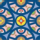 Loving Patterns Blue by Rencha