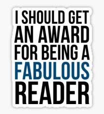 I SHOULD GET AN AWARD (BLUE) Sticker