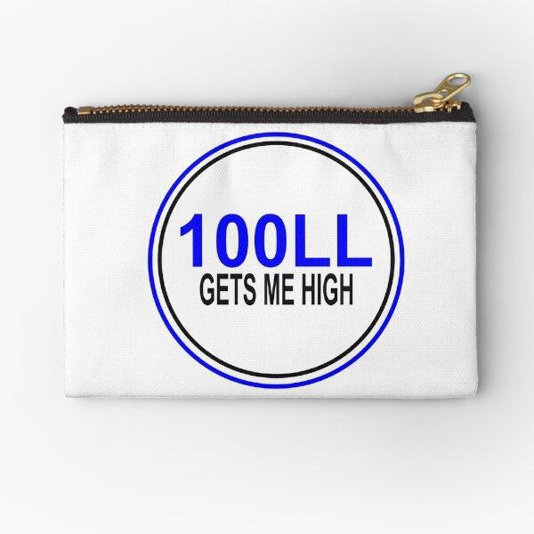 100LL Gets Me High Zipper Pouch