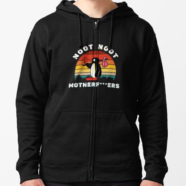 Noot Noot Pingu Shirt Noot Meme Gift, Penguin Noot Noot Motherf  Zipped Hoodie