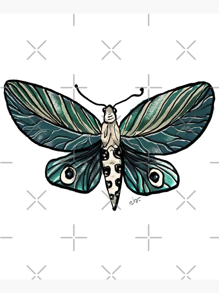 Leaf Magic Butterfly in my Garden_watercolor painted by ebozzastudio