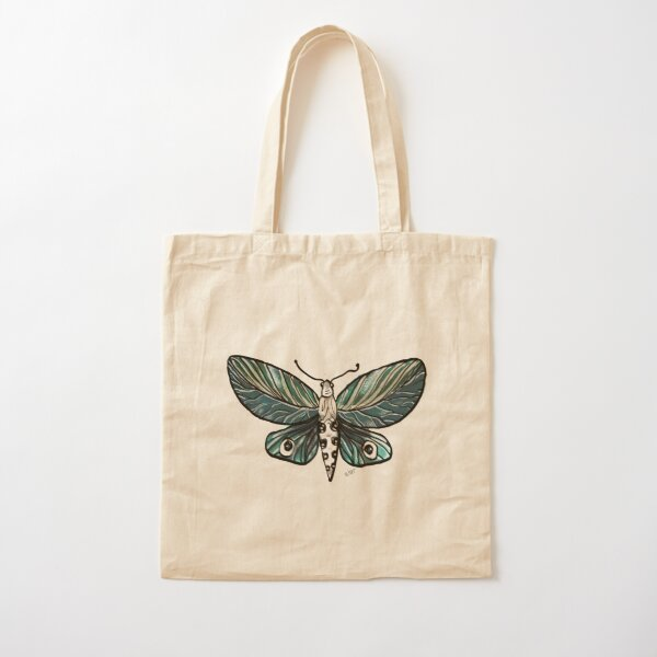 Leaf Magic Butterfly in my Garden_watercolor painted Cotton Tote Bag