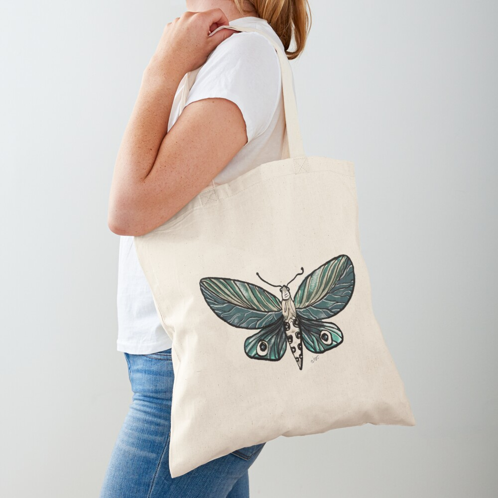Leaf Magic Butterfly in my Garden_watercolor painted Tote Bag
