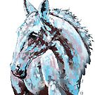 White horse - on white background by Konni Jensen