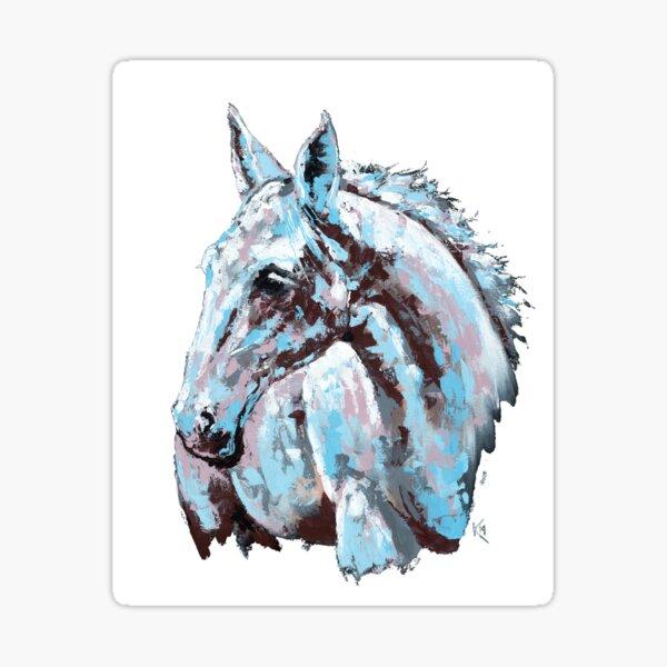 White horse - on white background Sticker