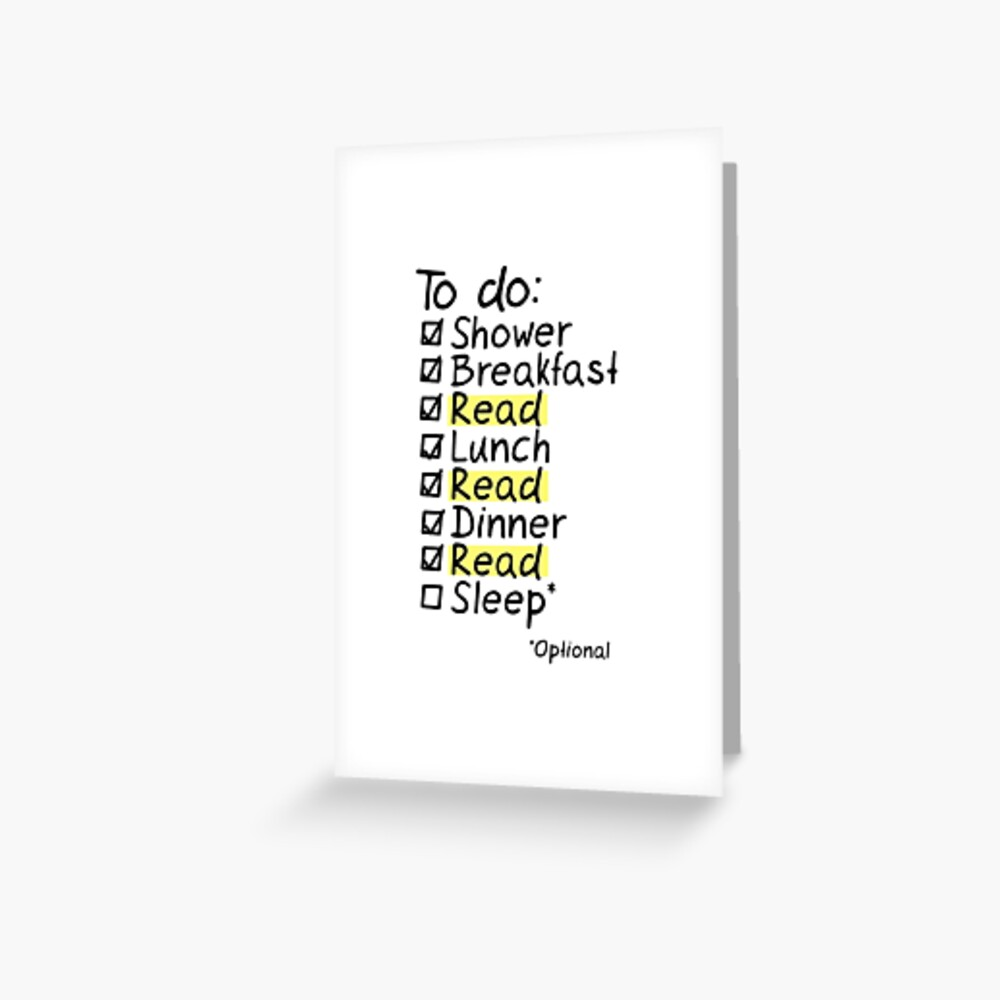 TO DO: READ Greeting Card