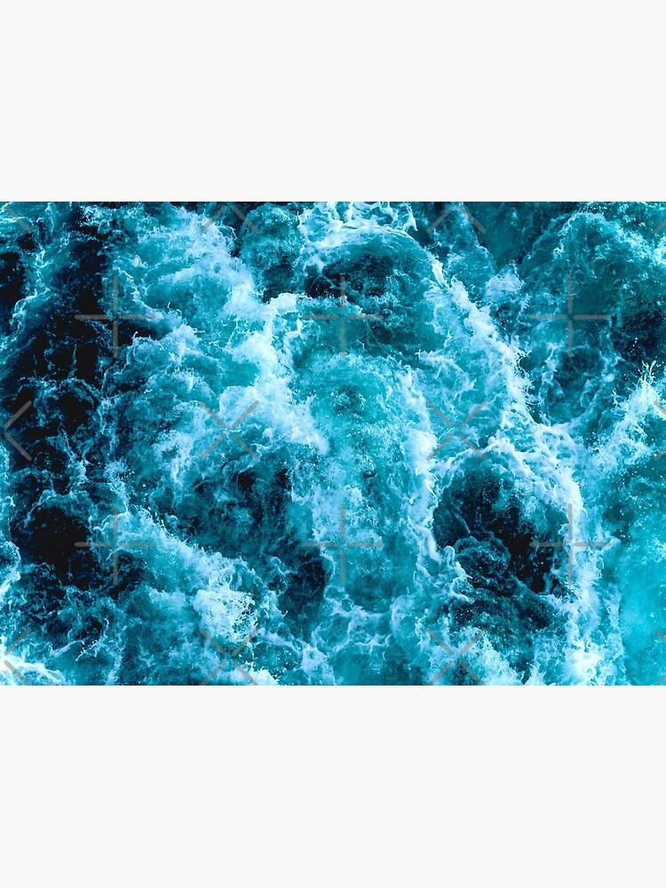 Superb blue ocean waves. Relaxing, peaceful, serene ocean scenery by CWartDesign