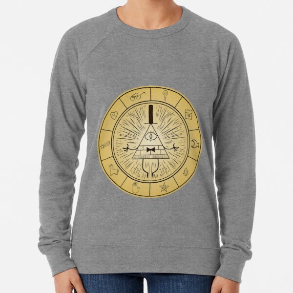 Gravity Falls Bill Cipher Wheel Lightweight Sweatshirt