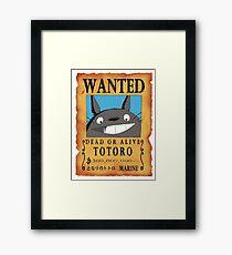 Wanted neighbor Framed Print