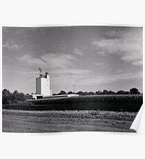 Grain Tower in Elwood Kansas Poster