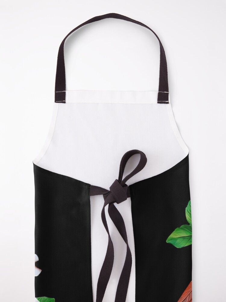 Alternate view of Northern Cardinal and Dogwood Flower. Apron