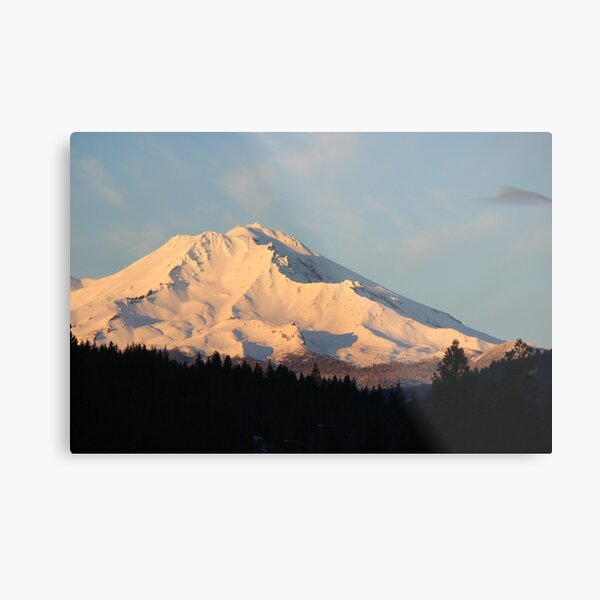 Mt. Shasta - tall shadows Metal Print
