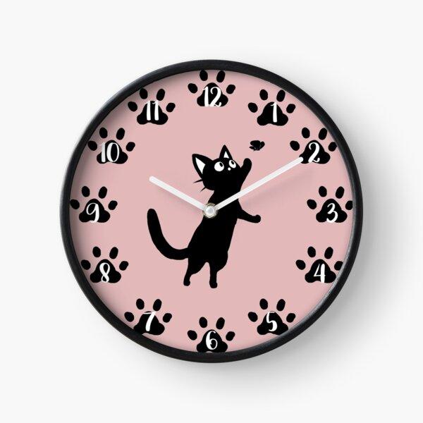 Clock with numbers black cat Clock Clock