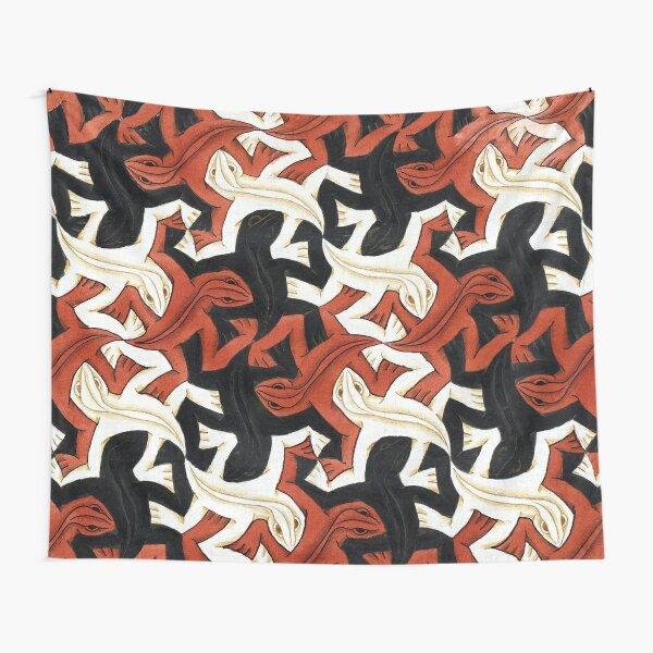 Escher lizard Tapestry