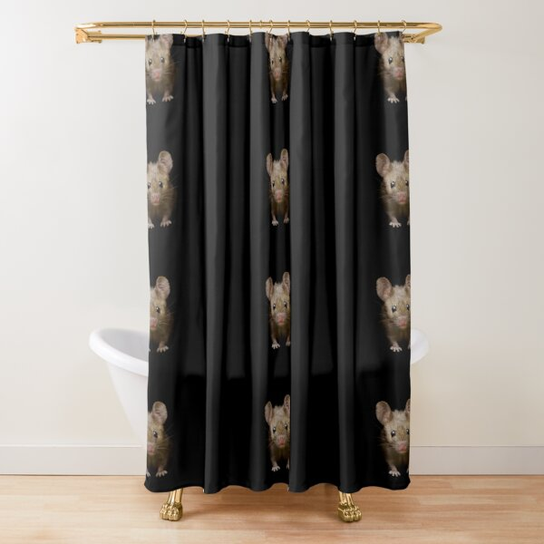 cute mouse  Shower Curtain