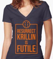 Futile resurrection Women's Fitted V-Neck T-Shirt