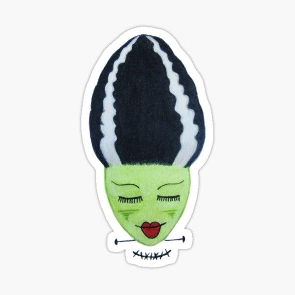 Frankenstein's Bride - Lime Green Sticker