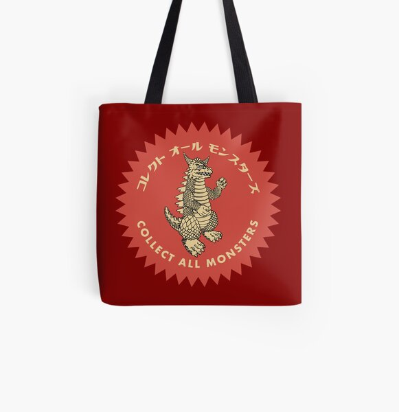 Collect All Monsters Medallion All Over Print Tote Bag