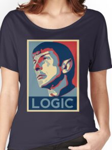 """Spock """"Logic"""" Poster Women's Relaxed Fit T-Shirt"""