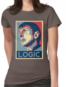 "Spock ""Logic"" Poster Womens Fitted T-Shirt"