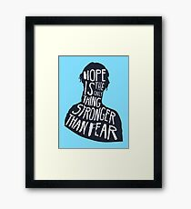Hunger Games Quote Framed Print