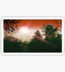 Sunset Or Sunrise Sticker