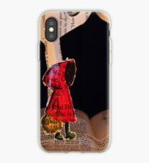 Little Red Riding Hood book sculpture iPhone Case