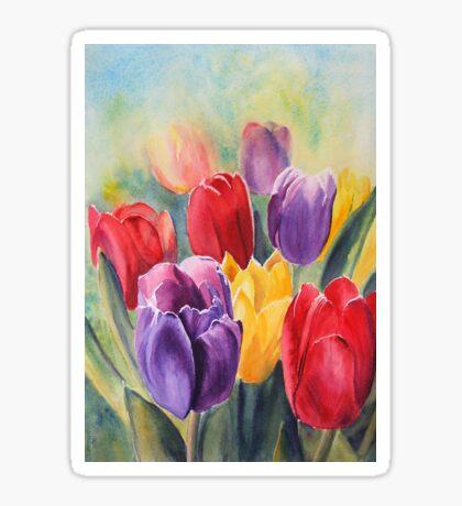 Tulip Rainbow Sticker